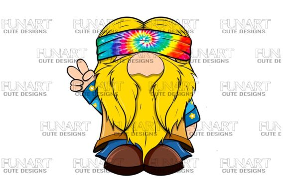 Hippie Gnome 3 Digital Design, Png File Graphic Illustrations By Fundesings