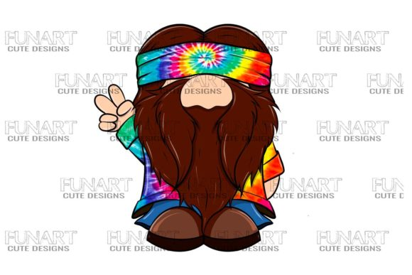 Hippie Gnome 4 Digital File , Png File Graphic Illustrations By Fundesings