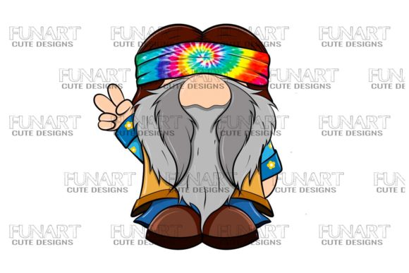 Hippie Gnome 5 Digital Design ,PNG File Graphic Illustrations By Fundesings