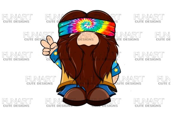 Hippie Gnome 6 Digital Design ,PNG File Graphic Illustrations By Fundesings