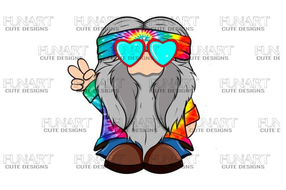 Hippie Gnome ,Digital Design , Png File Graphic Illustrations By Fundesings