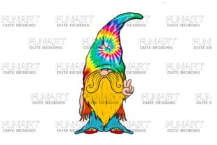 Hippie Gnome Png , Digital Design Graphic Illustrations By Fundesings