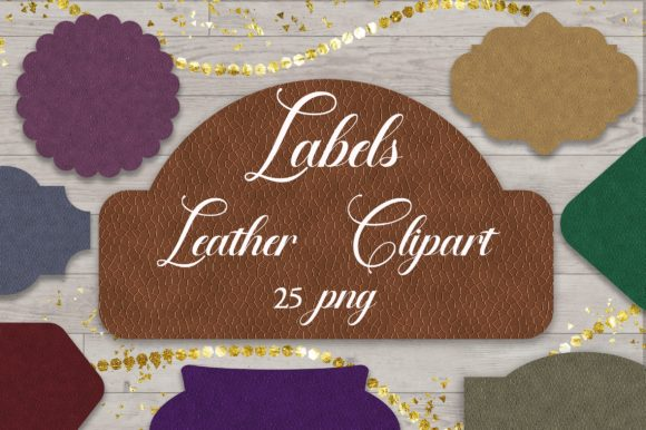 Labels Leather Clipart PNG Graphic Backgrounds By PinkPearly