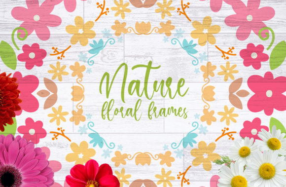 Nature Floral Frames Graphic Crafts By Firefly Designs