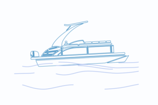 Outline Style Sport Arch Pontoon Boat Graphic Objects By faqeeh