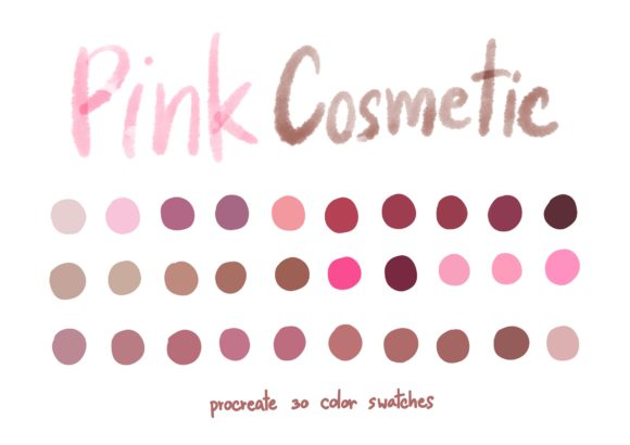 Pink Cosmetic - Procreate Color Palette Graphic Add-ons By Wanida Toffy
