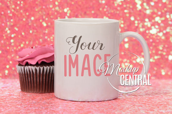 Pretty Coffee Glass Cup Mockup JPG Graphic Product Mockups By Mockup Central