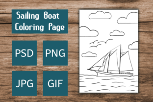 Print on Demand: Sailing Boat Coloring Page Graphic Coloring Pages & Books Kids By Dieza Art