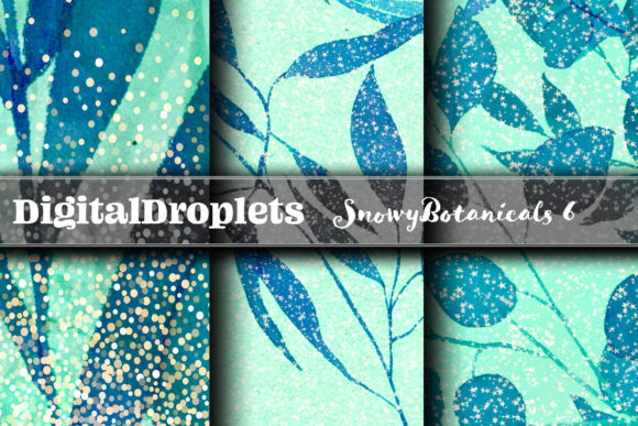 Snowy Botanicals   FREEBIE Graphic Backgrounds By digitaldroplets