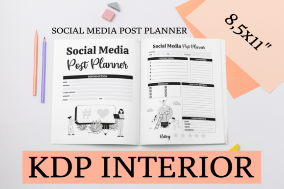 Print on Demand: Social Media Post Planner | KDP Interior Graphic KDP Interiors By KDP Mastermind