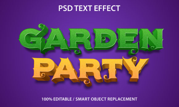 Text Effect Garden Party Premium Graphic Graphic Templates By yosiduck