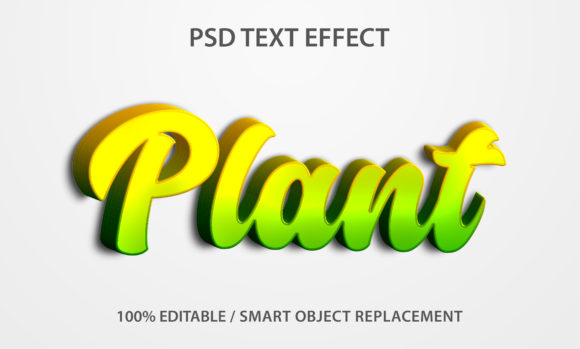 Text Effect Plant Premium Graphic Graphic Templates By yosiduck
