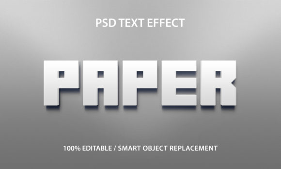 Text Effect White Paper Premium Graphic Graphic Templates By yosiduck