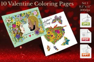 Print on Demand: Valentine Coloring Pages Set 1 Graphic Coloring Pages & Books Adults By Webmark