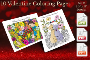 Print on Demand: Valentine Coloring Pages Set 2 Graphic Coloring Pages & Books Adults By Webmark
