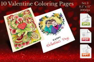 Print on Demand: Valentine Coloring Pages Set 3 Graphic Coloring Pages & Books Adults By Webmark