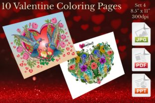 Print on Demand: Valentine Coloring Pages Set 4 Graphic Coloring Pages & Books Adults By Webmark