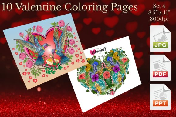Valentine Coloring Pages Set 4 Graphic Coloring Pages & Books Adults By Webmark