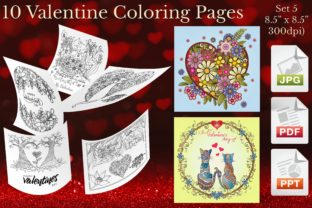 Print on Demand: Valentine Coloring Pages Set 5 Graphic Coloring Pages & Books Adults By Webmark