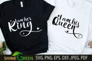 Print on Demand: Valentines Couple T-Shirts King Queen Graphic Crafts By ShineGreenArt