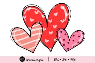 Valentines Day Hearts Png. Graphic Illustrations By CatAndMe