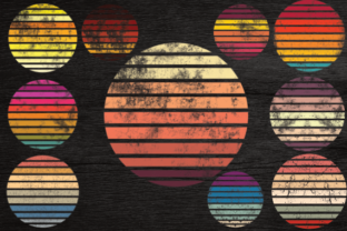 Print on Demand: Retro Sun for Design Graphic Illustrations By rayan