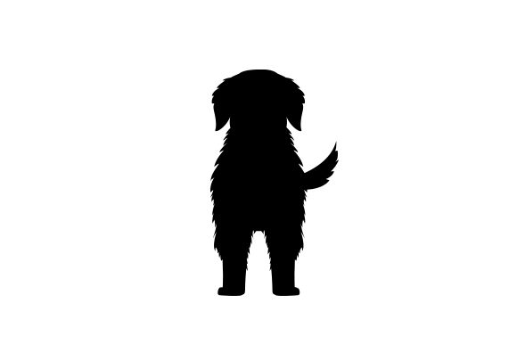 Silhouette of the Back of a Dog Animals Craft Cut File By Creative Fabrica Crafts
