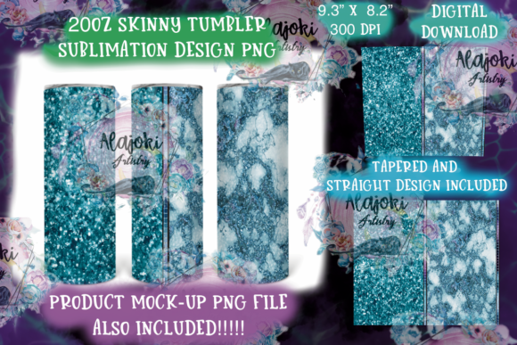 Print on Demand: 20oz Skinny Tumbler Sublimation Wrap Graphic Print Templates By Susan Alajoki