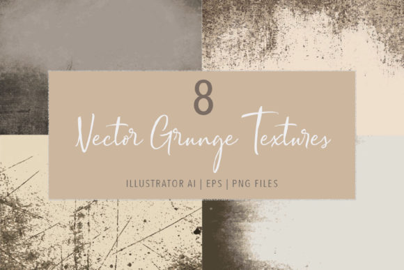 Print on Demand: 8 Vector Grunge Distressed Textures Graphic Textures By Jennadesigns