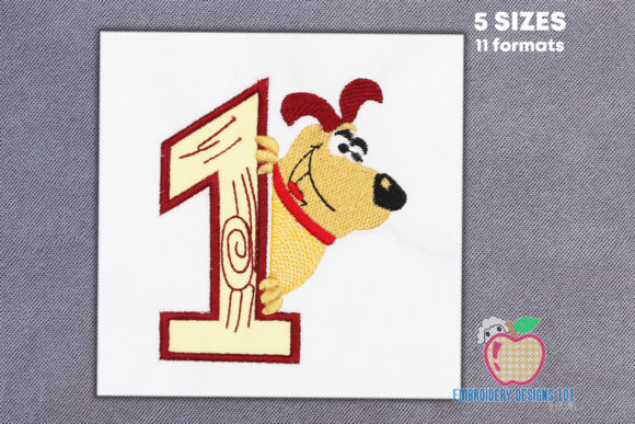 A Dog As the Happy Mood As Cartoon Dogs Embroidery Design By embroiderydesigns101
