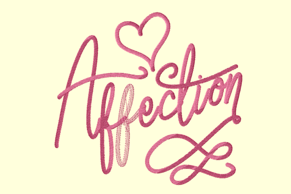 Print on Demand: Affection Wedding Quotes Embroidery Design By setiyadissi
