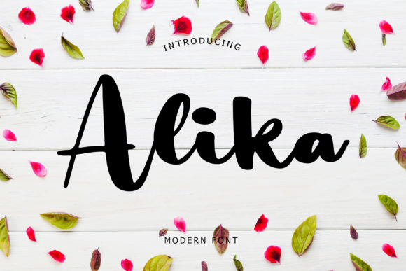 Print on Demand: Alika Script & Handwritten Font By formatikastd