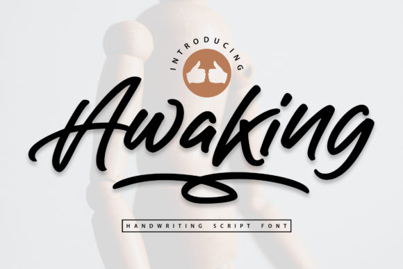 Print on Demand: Awaking Script & Handwritten Font By Vunira