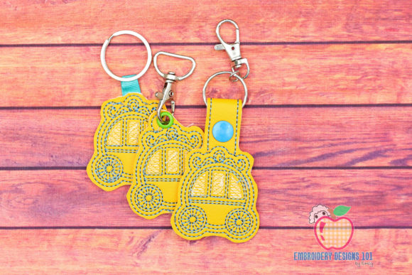 Baby Carriage ITH Key Fob Pattern Toys & Games Embroidery Design By embroiderydesigns101