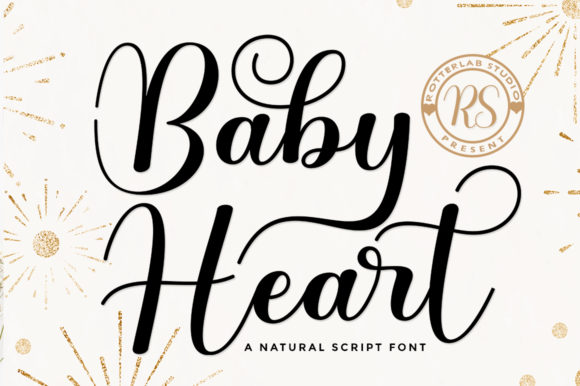 Print on Demand: Baby Heart Script & Handwritten Font By rotterlabstudio