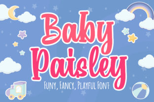Print on Demand: Baby Paisley Display Font By Blankids Studio