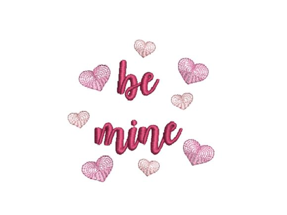 Be Mine Valentine's Day Embroidery Design By carasembor