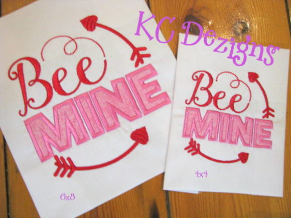 Be Mine Valentine Applique Valentine's Day Embroidery Design By karen50