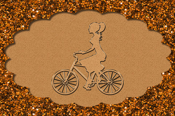 Print on Demand: Bicycle Bike Cyclist Girl Riding Frame Graphic Illustrations By Chiplanay