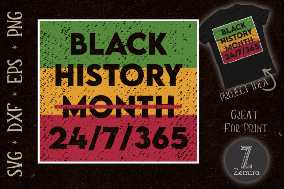 Print on Demand: Black History All Year Black Pride Graphic Print Templates By Zemira