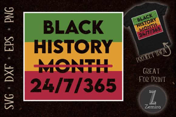 Print on Demand: Black History Month African American Graphic Print Templates By Zemira
