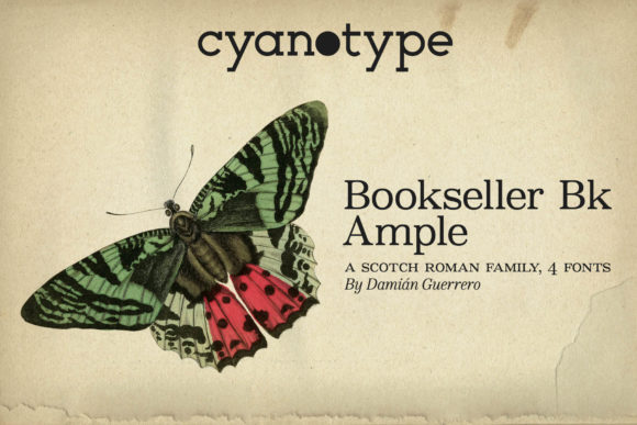 Print on Demand: Bookseller Bk Ample Serif Font By cyanotype