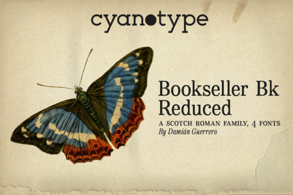 Print on Demand: Bookseller Bk Reduced Serif Font By cyanotype