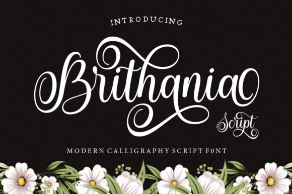 Print on Demand: Brithania Script Script & Handwritten Font By HKL STUDIO