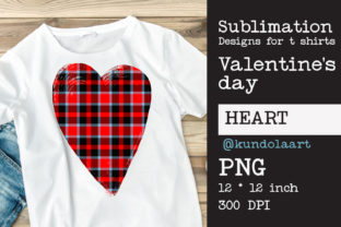 Print on Demand: Buffalo Heart, Love Valentines Day's Graphic Print Templates By KundolaArt