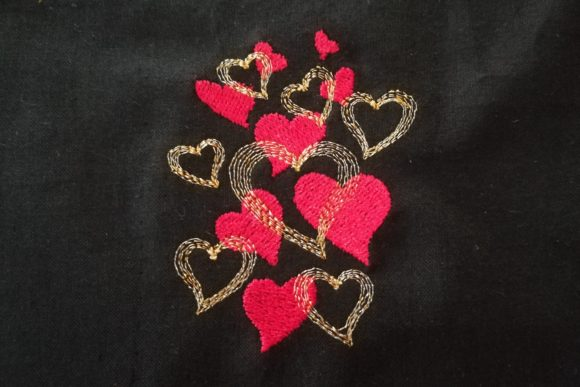 Bunch of Hearts Embroidery