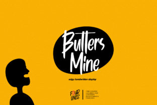 Print on Demand: Butters Mine Display Font By Fourlines.design