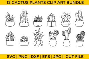 Print on Demand: Cactus Plants Bundle Graphic Crafts By Wicked Vectors