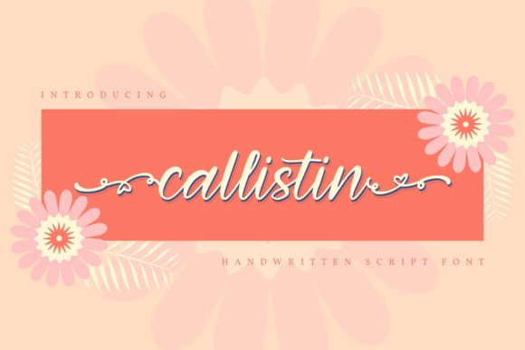 Print on Demand: Callistin Script & Handwritten Font By Vunira