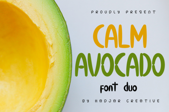 Print on Demand: Calm Avocado Display Font By hadjarcreative